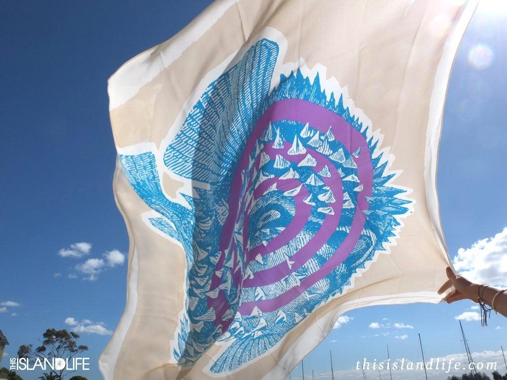 Bay & Fyfe | Puffer Fish Print Silk Scarf