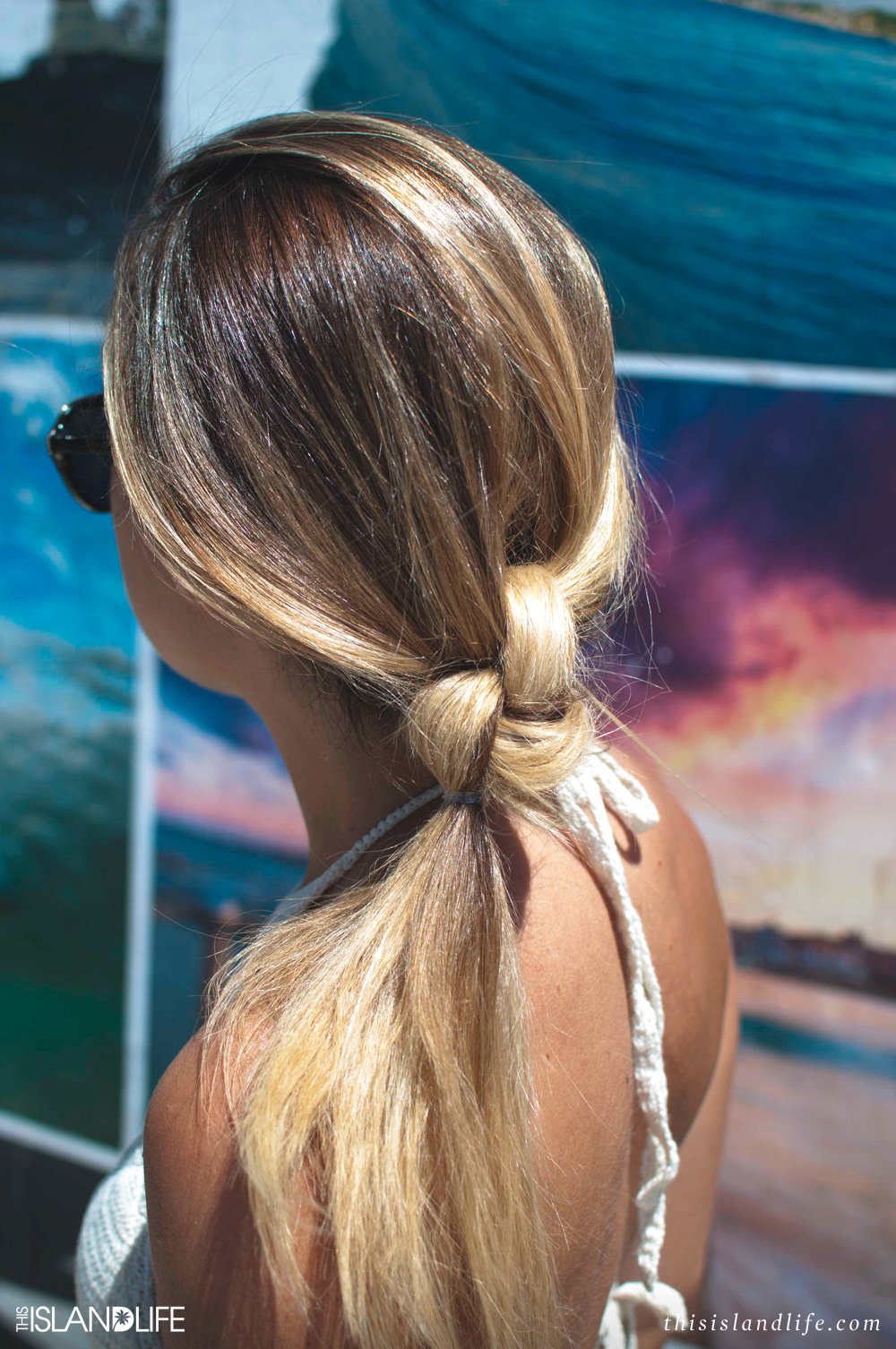 This Island Life X Hair Romance | How to do a double knot ponytail
