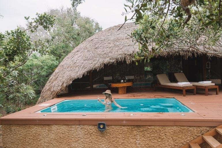 This Island Life on safari at Chena Huts, Sri Lanka - a boutique luxury resort on the fringe of Yala National Park.