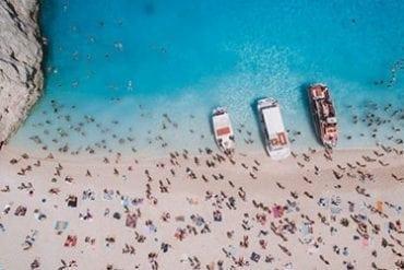 Drone photo at Shipwreck Beach (Navigo), Zakynthos - Greece
