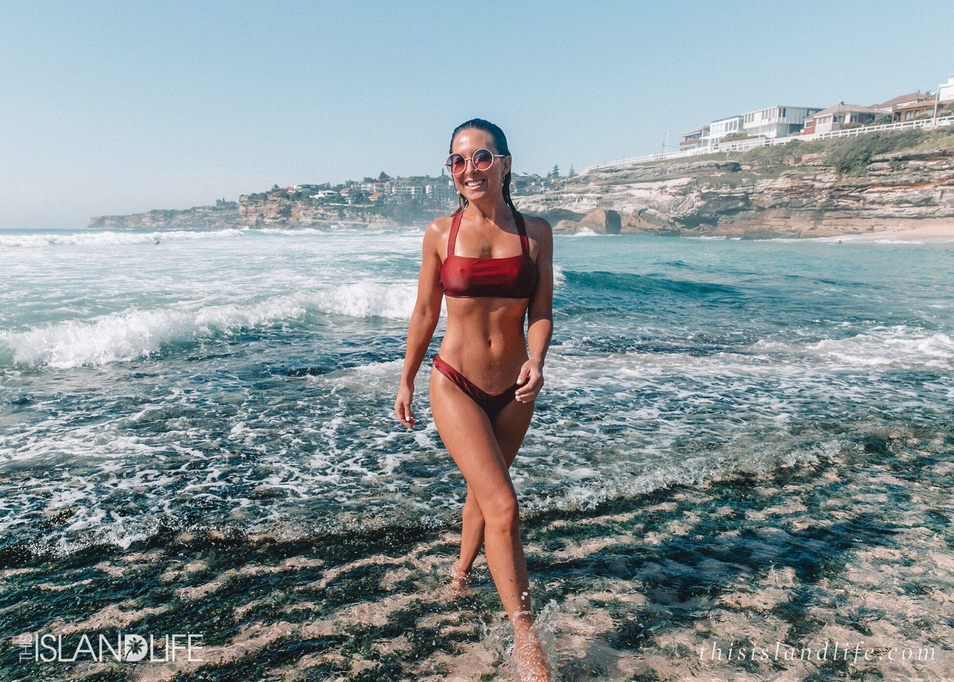 Woman in Cotton On bikini at Tamarama Beach