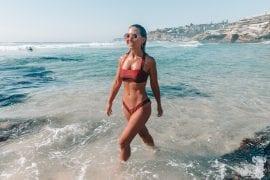 Girl in Cotton On Body bikini Tamarama Beach