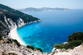 Myrtos Beach on Kefalonia island, Greece