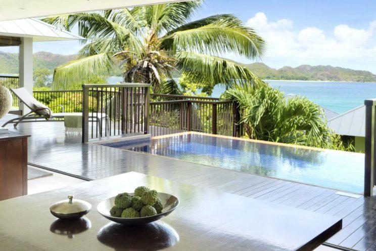 Pool villa at Raffles Seychelles, Praslin Island